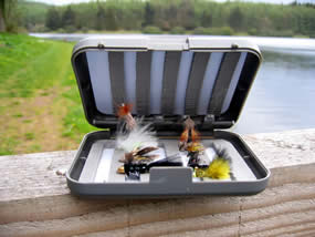 The kit also includes 12 of the most productive flies for still water.